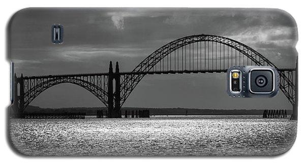 Yaquina Bay Bridge Black And White Galaxy S5 Case