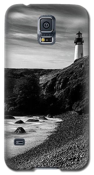 Yaquina Head Lighthouse 1 Black And White Galaxy S5 Case