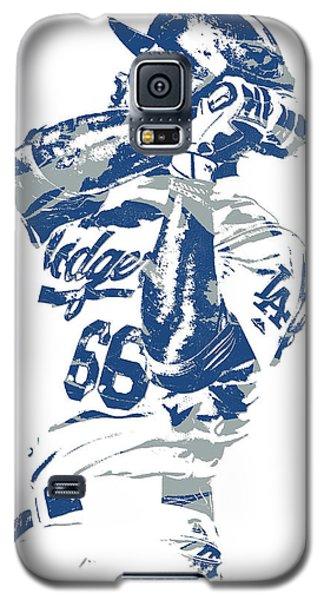 Yasiel Puig Los Angeles Dodgers Pixel Art 10 Galaxy S5 Case
