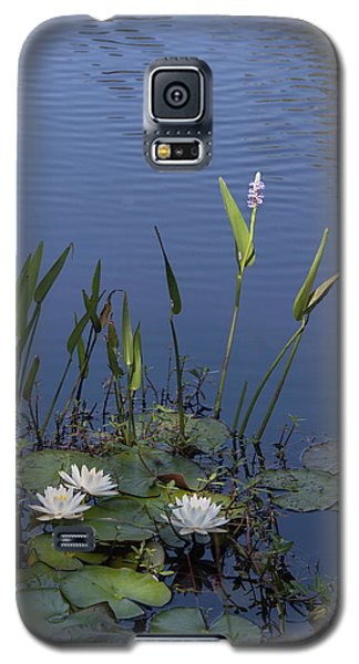 Galaxy S5 Case featuring the photograph Yawkey Wildlife Reguge Water Lilies With Rare Plant by Suzanne Gaff