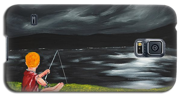 Galaxy S5 Case featuring the painting Yel No Catch A Kelpie Wi That by Scott Wilmot