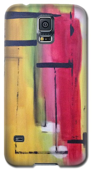 Galaxy S5 Case featuring the painting Yellow Abstract by Patricia Cleasby