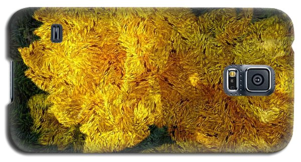 Yellow Abstraction Galaxy S5 Case by Jean Bernard Roussilhe