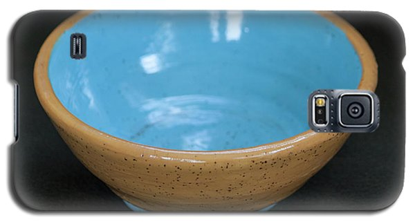Yellow And Blue Ceramic Bowl Galaxy S5 Case by Suzanne Gaff