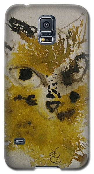 Yellow And Brown Cat Galaxy S5 Case