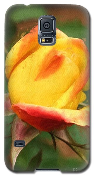Yellow And Orange Rosebud Galaxy S5 Case