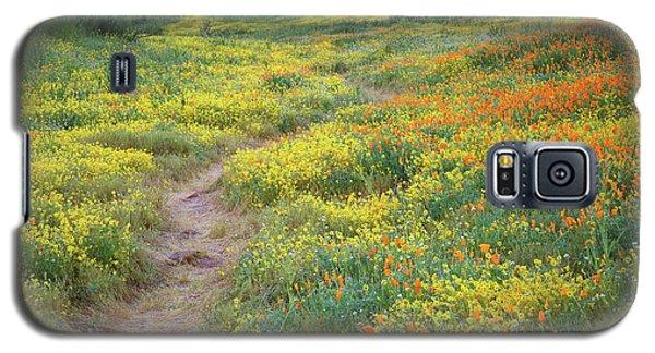 Yellow And Orange Wildflowers Along Trail Near Diamond Lake Galaxy S5 Case by Jetson Nguyen