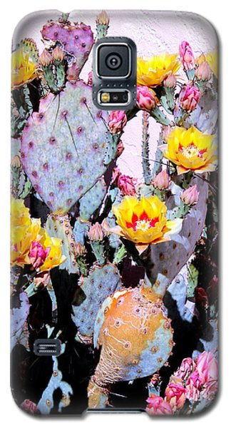 Yellow And Red Flower Galaxy S5 Case by M Diane Bonaparte