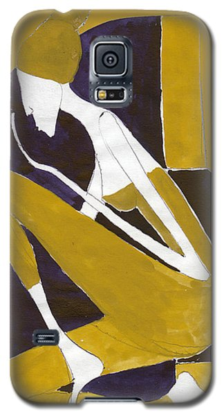 Galaxy S5 Case featuring the painting Yellow And Violet by Maya Manolova