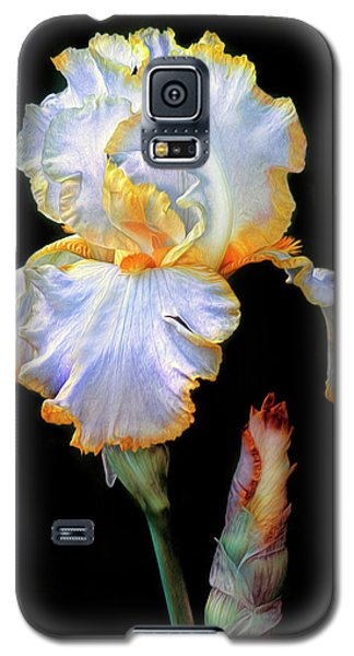 Yellow And White Iris Galaxy S5 Case
