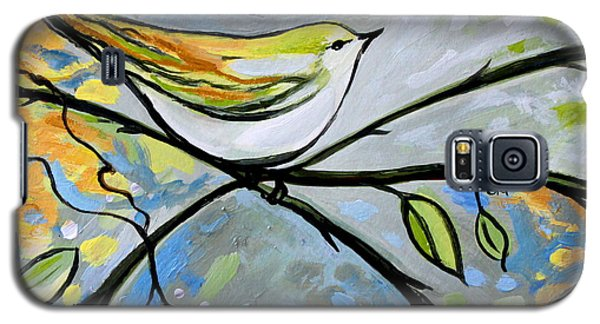 Yellow Bird Among Sage Twigs Galaxy S5 Case