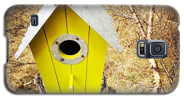 House Galaxy S5 Case - Yellow Bird House by Matthias Hauser
