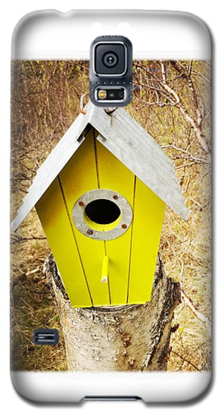 House Galaxy S5 Case - Yellow Bird House by Matthias Hauser