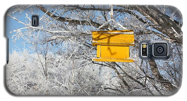 Galaxy S5 Case featuring the photograph Yellow Bird House by Pat Purdy