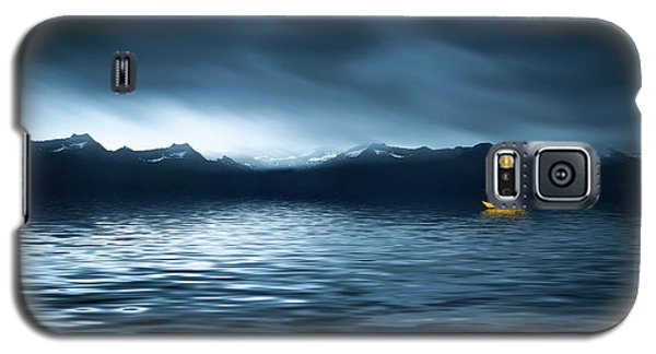 Galaxy S5 Case featuring the photograph Yellow Boat by Bess Hamiti