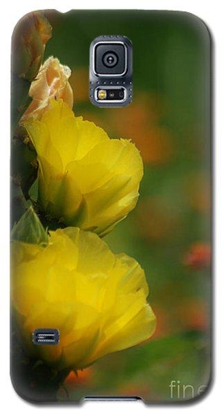 Yellow Cactus Flower Galaxy S5 Case