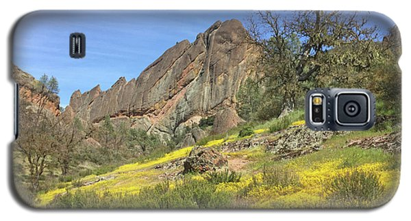Galaxy S5 Case featuring the photograph Yellow Carpet by Art Block Collections