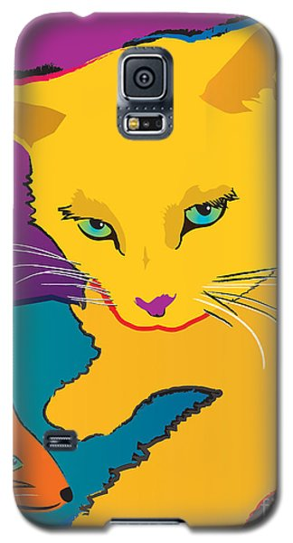 Yellow Cat Galaxy S5 Case
