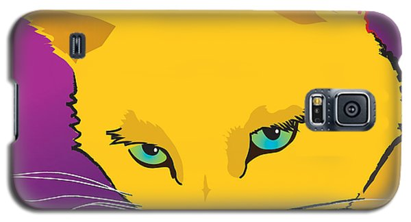 Yellow Cat Square Galaxy S5 Case