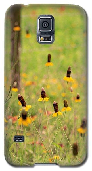 Yellow Cone Flower Galaxy S5 Case