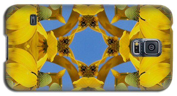 Yellow Coneflower Kaleidoscope Galaxy S5 Case by Smilin Eyes  Treasures