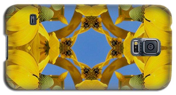 Yellow Coneflower Kaleidoscope Galaxy S5 Case