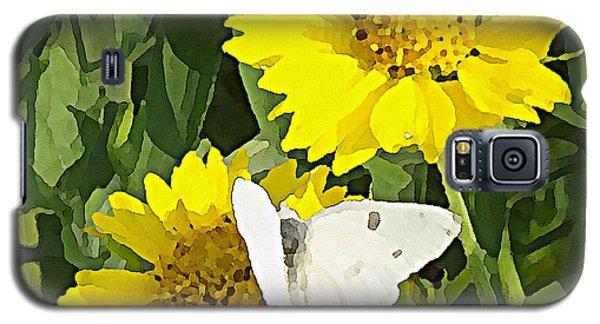 Yellow Cow Pen Daisies Galaxy S5 Case