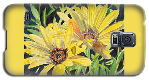Galaxy S5 Case featuring the painting Yellow Daisy by LeAnne Sowa