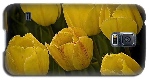 Yellow Detailed Tulip Galaxy S5 Case by Michael Flood