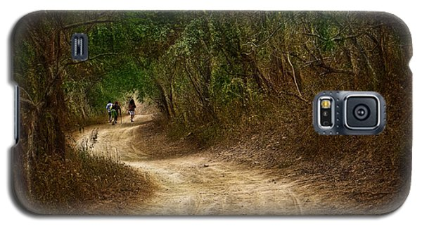 Galaxy S5 Case featuring the photograph Yellow Dust Road by Cameron Wood
