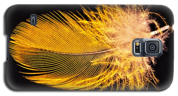 Yellow Feather Macro Galaxy S5 Case