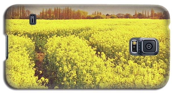 Yellow Field Galaxy S5 Case by Lyn Randle