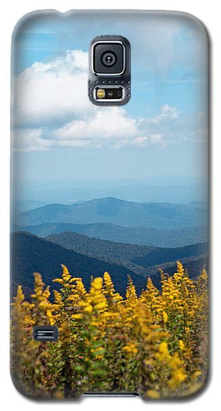Galaxy S5 Case featuring the photograph Yellow Flowers Along The Blue Ridge Mountains by Kim Fearheiley