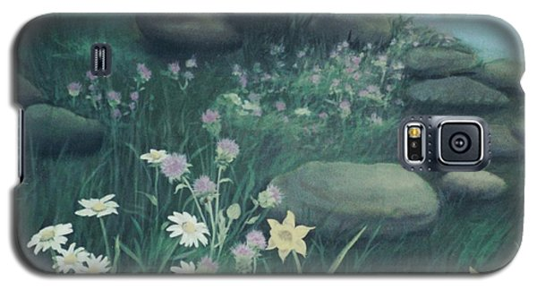 Yellow Flowers In Bed Of Rocks Galaxy S5 Case