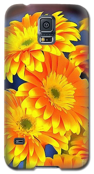 Yellow Flowers In Thick Paint Galaxy S5 Case