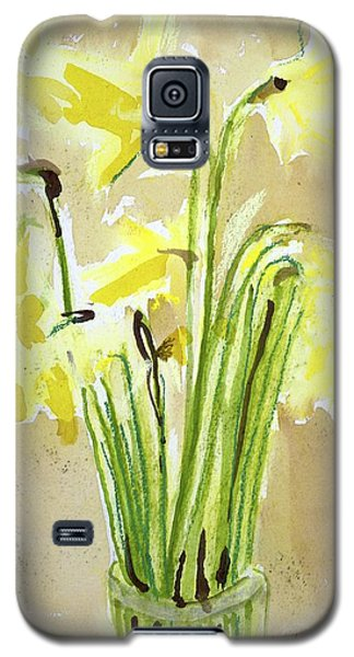 Yellow Flowers In Vase Galaxy S5 Case
