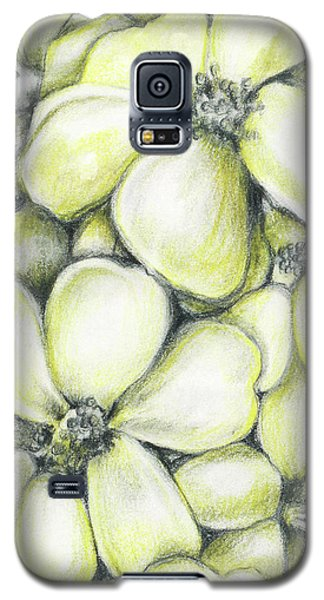 Yellow Flowers Pencil Galaxy S5 Case