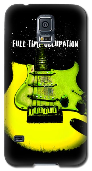 Yellow Guitar Full Time Occupation Galaxy S5 Case