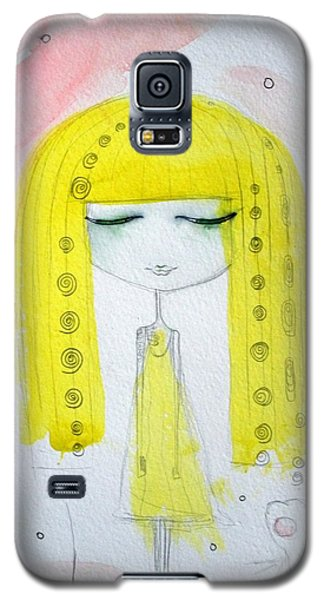Yellow Hair Girl  Galaxy S5 Case