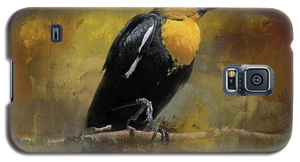 Galaxy S5 Case featuring the photograph Yellow-headed Blackbird by Donna Kennedy