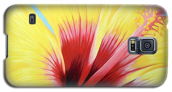 Yellow Hibiscus Galaxy S5 Case