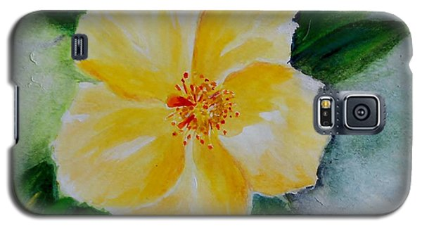 Yellow Hibiscus Galaxy S5 Case by Jamie Frier