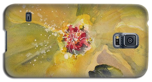 Galaxy S5 Case featuring the painting Yellow Hibiscus by Sandra Strohschein