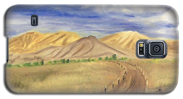 Yellow Hills Of Jensen Galaxy S5 Case by Sherril Porter