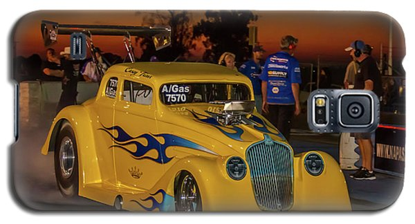 Galaxy S5 Case featuring the photograph Yellow Hot Rod by Bill Gallagher