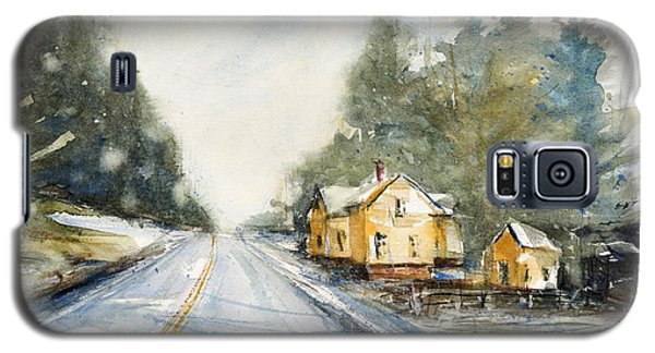 Yellow House On The Right Galaxy S5 Case by Judith Levins
