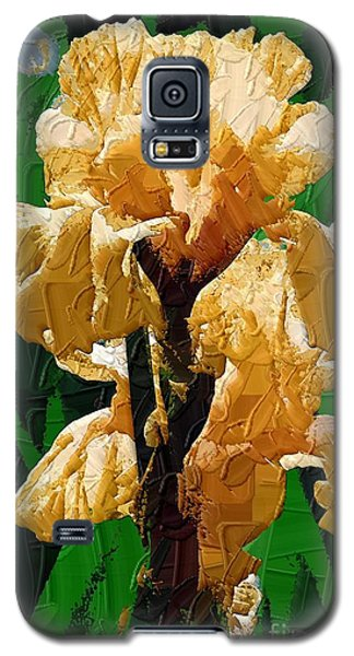 Yellow Iris Galaxy S5 Case by Diane E Berry