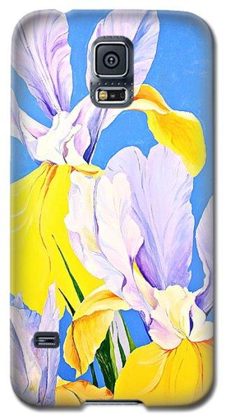 Yellow Irises-posthumously Presented Paintings Of Sachi Spohn  Galaxy S5 Case