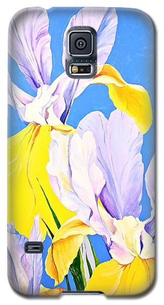 Yellow Irises-posthumously Presented Paintings Of Sachi Spohn  Galaxy S5 Case
