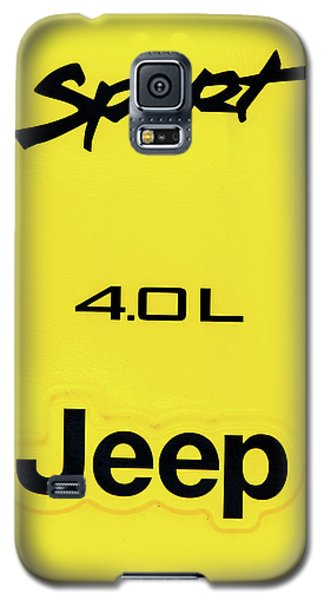 Yellow Galaxy S5 Case